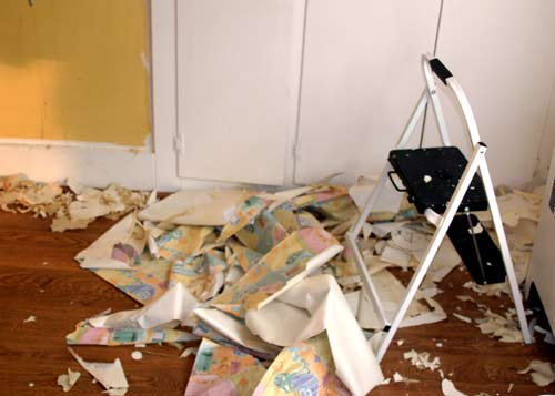 How To Remove Wallpaper Part Ii Going Downhill Designlively