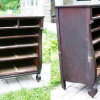 Before and After: Refinishing an Old Wood Dresser