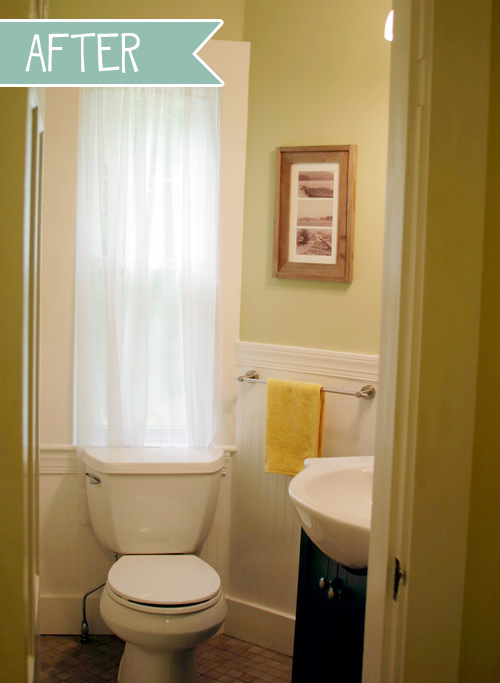 DesignLively - our DIY small bathroom renovation