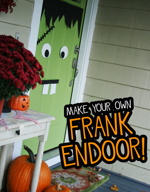 A Halloween Frankenstein Door - DesignLively