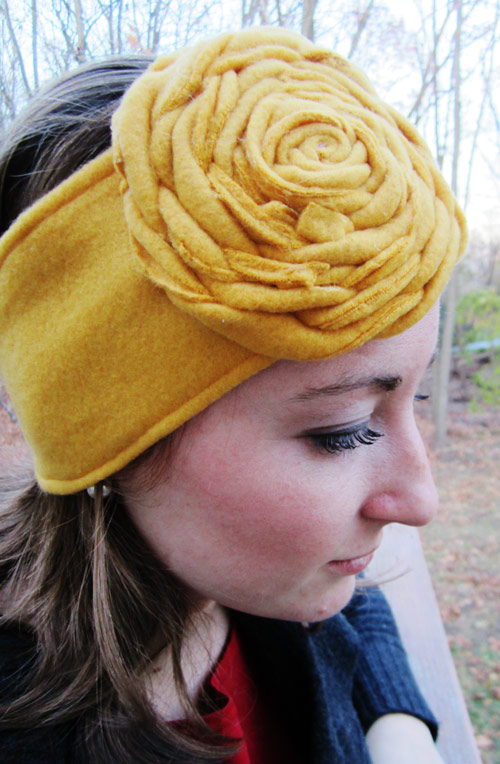 DIY $2 Toasty Fleece Ear-warmers- DesignLively