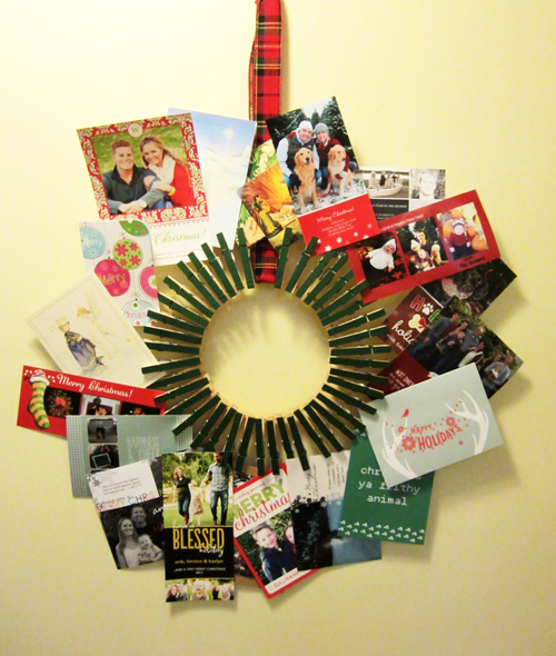 DIY Christmas Card Wreath - DesignLively