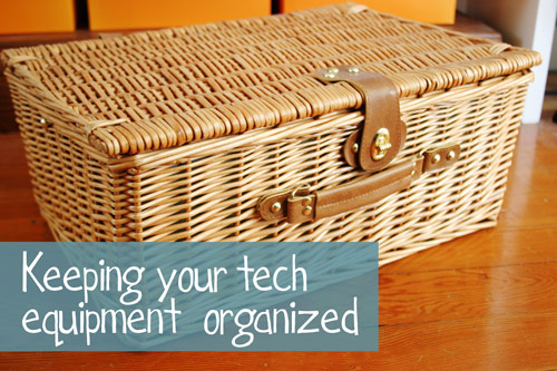 A Cute Way to Organize Tech Equipment - DesignLively