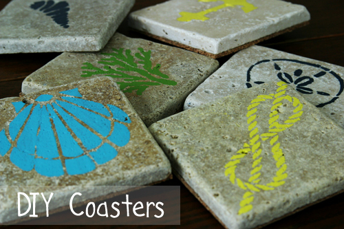 DIY Painted Tile Coasters - DesignLively