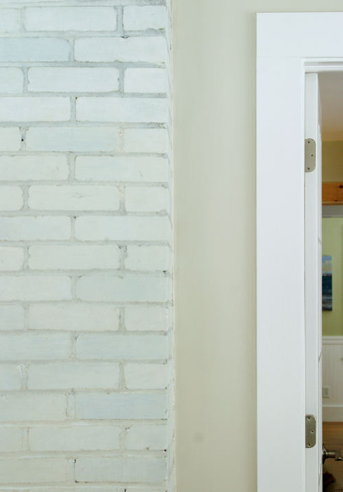 DIY Tutorial: Tinting a Whitewashed Brick Wall