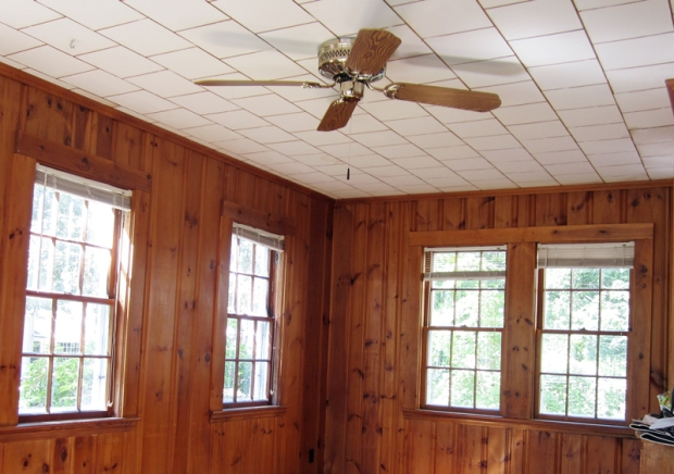 Before and After: Renovating a Wood Paneled Sunroom