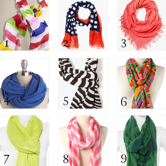 summer and spring scarves
