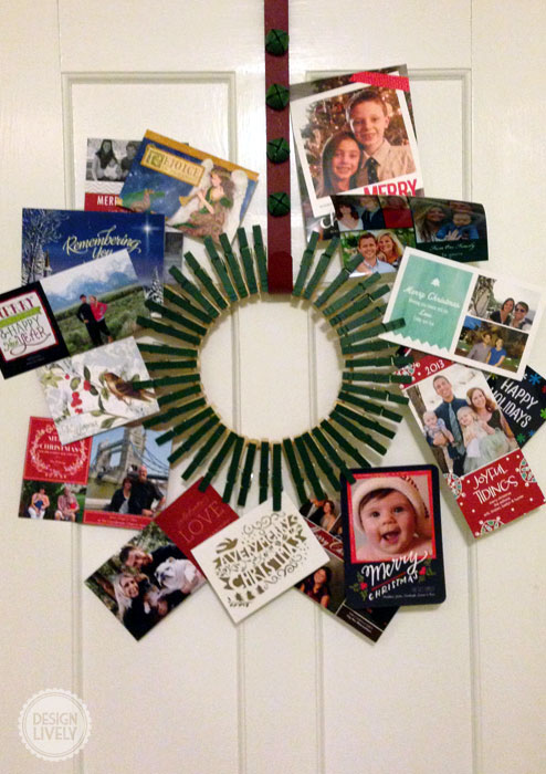 christmascardwreath