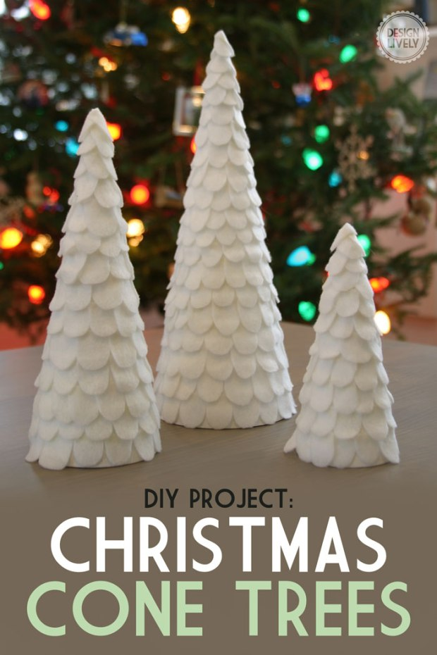 Easy DIY Cone Christmas Tree - DesignLively
