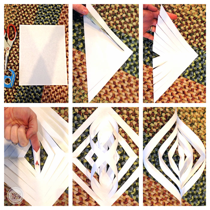 how to make snowflakes with construction paper