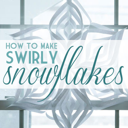 How to Make Swirly Paper Snowflakes